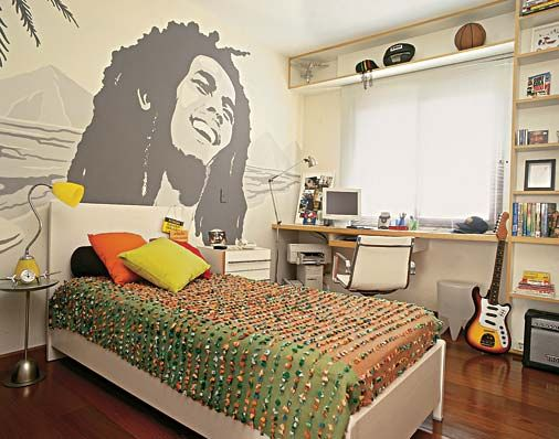 Edredon Bob Marley.Decoracao De Quartos De Meninos Adolescentes Dormitorios Para