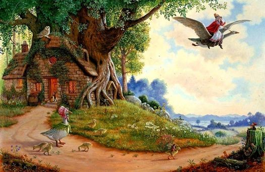 Art, Mother Goose, Fairytale Cottage