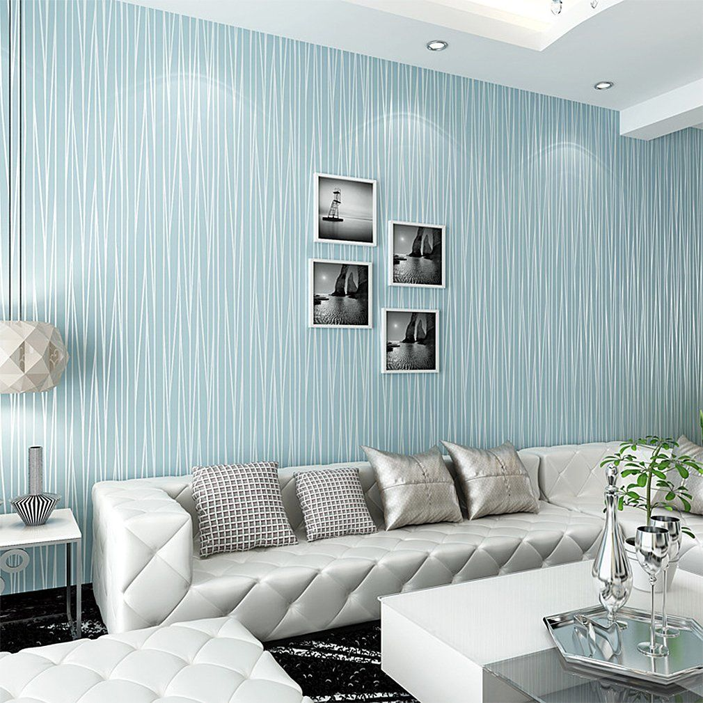 45 Gorgeous Wallpaper Designs For Home Renoguide Australian Renovation Ideas And Inspiration Wallpaper Living Room Blue Wallpaper Living Room Striped Wallpaper Living Room Room wall wallpaper info