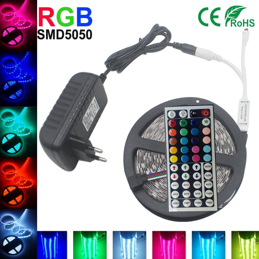 5050 Rgb Led Strip Light 5m 10m 15m 30led M Smd Stripe Diode Tape 44 With Controller China Cheap Lights N Lamps Buy Quality Lamp Oil Directly From Frame Suppliers Key Remote