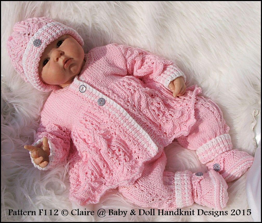 Lacy Trouser Suit 16-22 inch doll/prem-3m+ baby | Babys | Pinterest