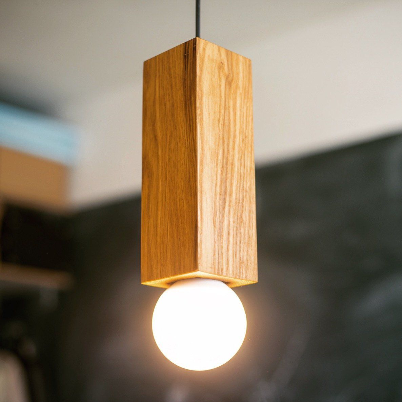 Pendant Light Base 2 Handmade Oak Wood Lamp Wood Ceiling Lamp