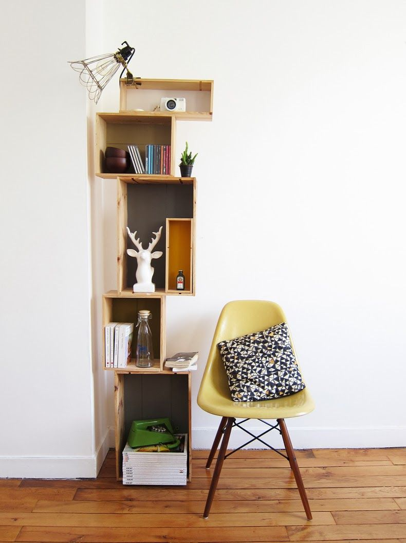 6 top id es d co pour vos caisses de vin caisse vin et rangement jouet. Black Bedroom Furniture Sets. Home Design Ideas