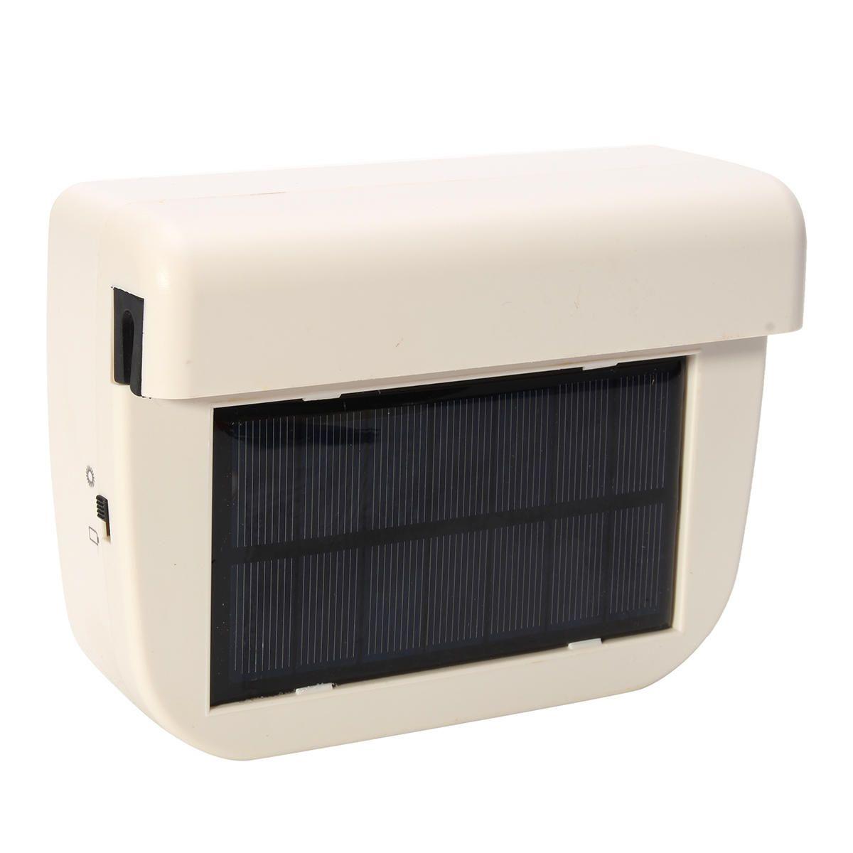 White Solar Sun Powered Car Van Truck Window Ventilator Cooler Air