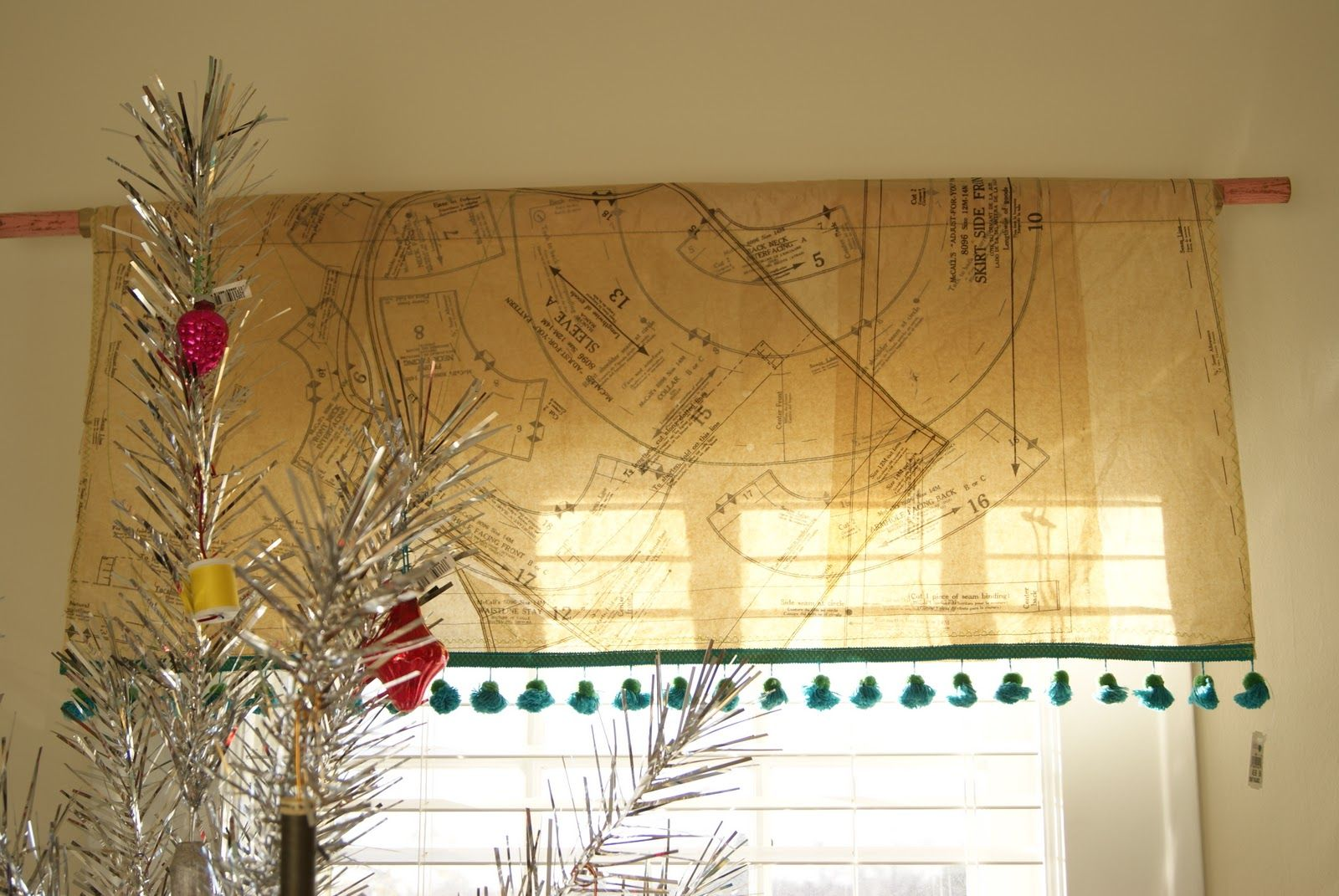 Holiday Ideas House Space Crafts Patterned Window Treatments