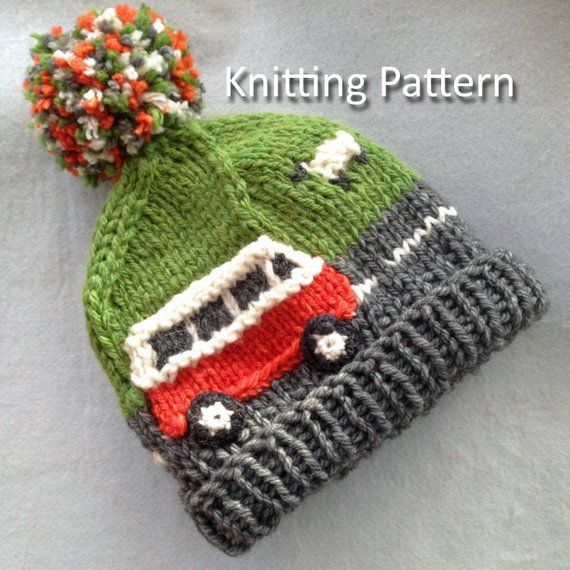 Pdf Knitting Pattern For A Super Chunky Campervan Beanie Bobble