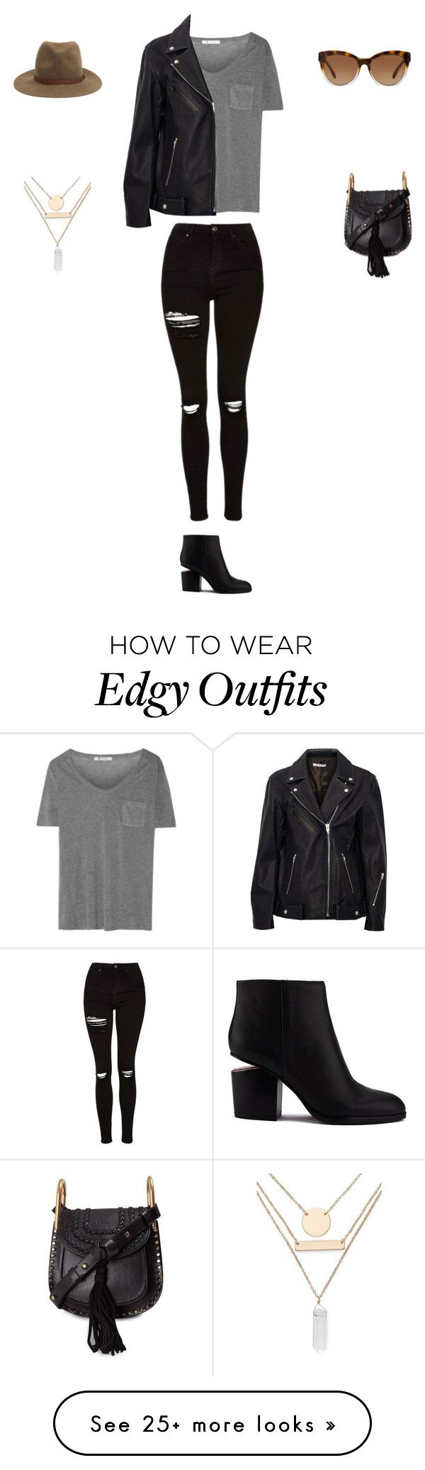 """Edgy Chic"" by kimpichu on Polyvore featuring T By Alexander Wang, Topshop, Alexander Wang, rag & bone, Michael Kors, Chloé and Jules Smith"