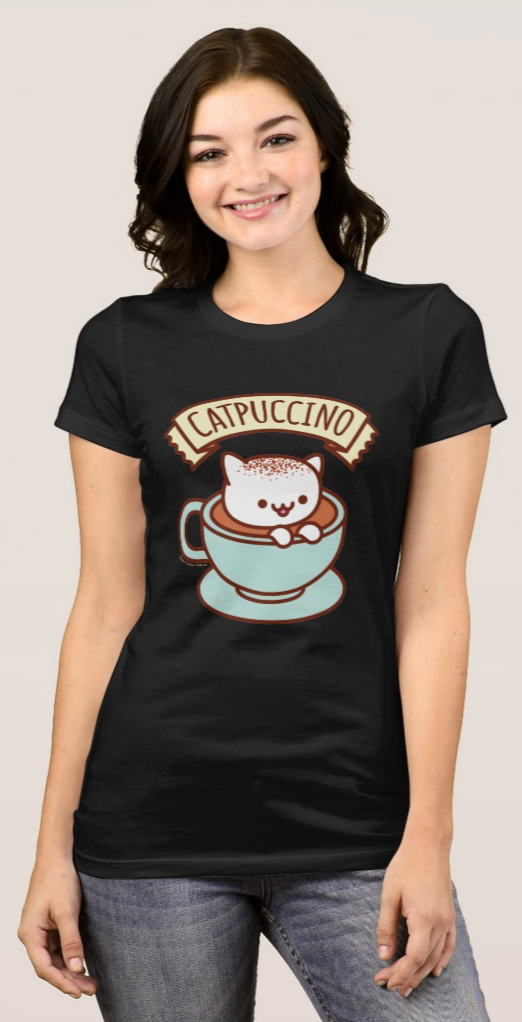 Cat T-Shirt: CATPUCCINO - Only $18.95 on Amazon.co