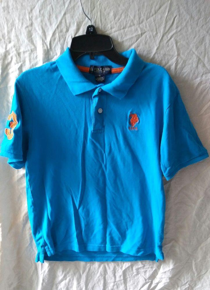 U S Polo Association Size 18 Xl Boys Blue Polo Shirt