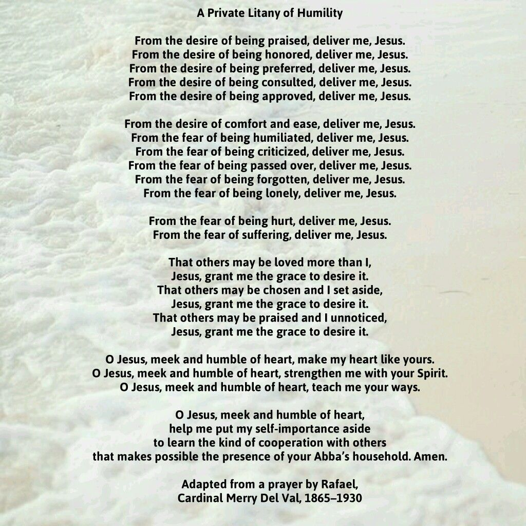 This is a picture of Versatile Litany of Humility Printable