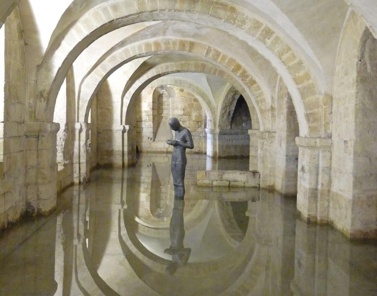 Sound II by Anthony Gormley, in The Crypt of Winchester Cathedral, 23rd November 2012