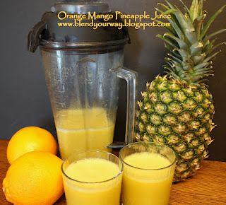 Orange Mango Pineapple Juice made from whole foods