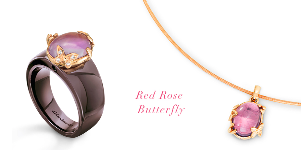 rose-gold, diamonds, quartz and butterflies...what more could you ask for? www.CharlotteShop.com