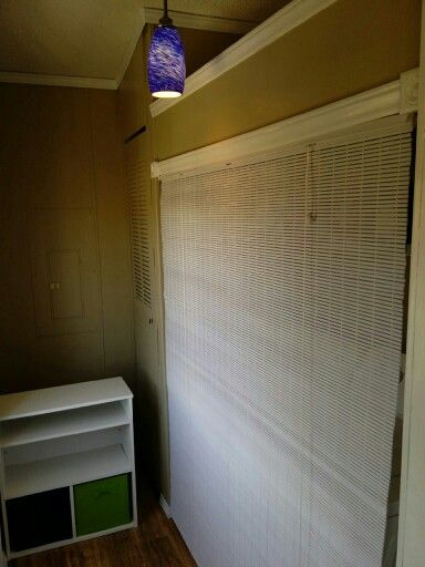 Use Blinds To Hide Washer And Dryer Mud Room Laundry Foyer Blinds Hidden Laundry Kitchen Remodel