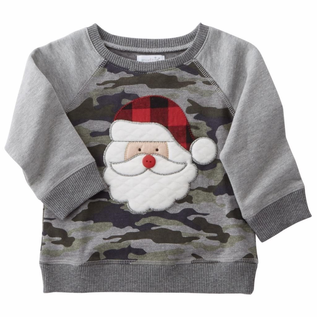 Mud Pie Baby-Boys Newborn Knit Santa Sweater