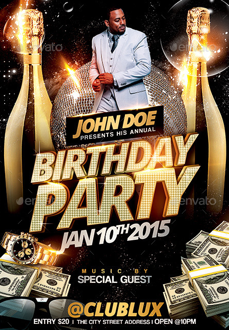 20 Beautifully Designed PSD Birthday Party Flyer Templates – Birthday Flyers Template