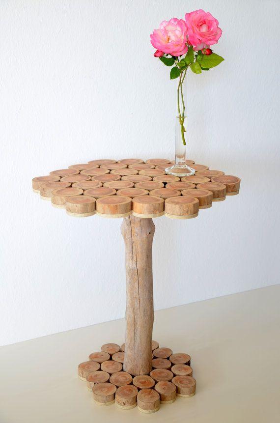Treibholz-Beistelltisch aus Treibholzscheiben gefertigt ~ SEABEL ...