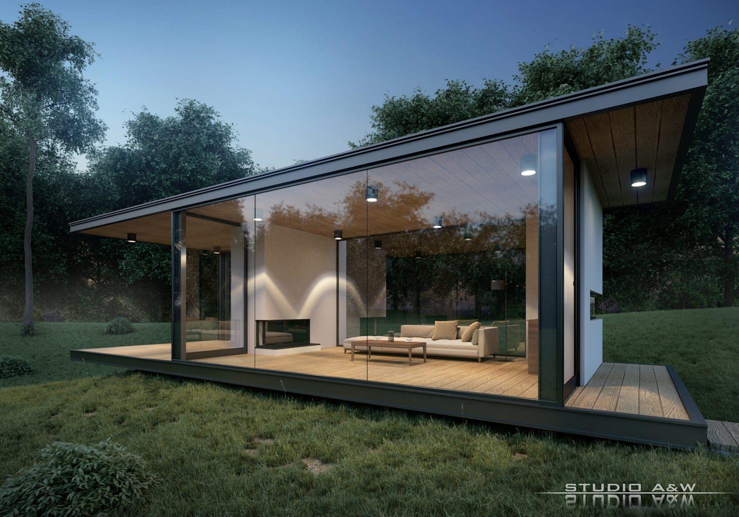 Modernes Gartenhaus in transparentem Design Gartenhaus