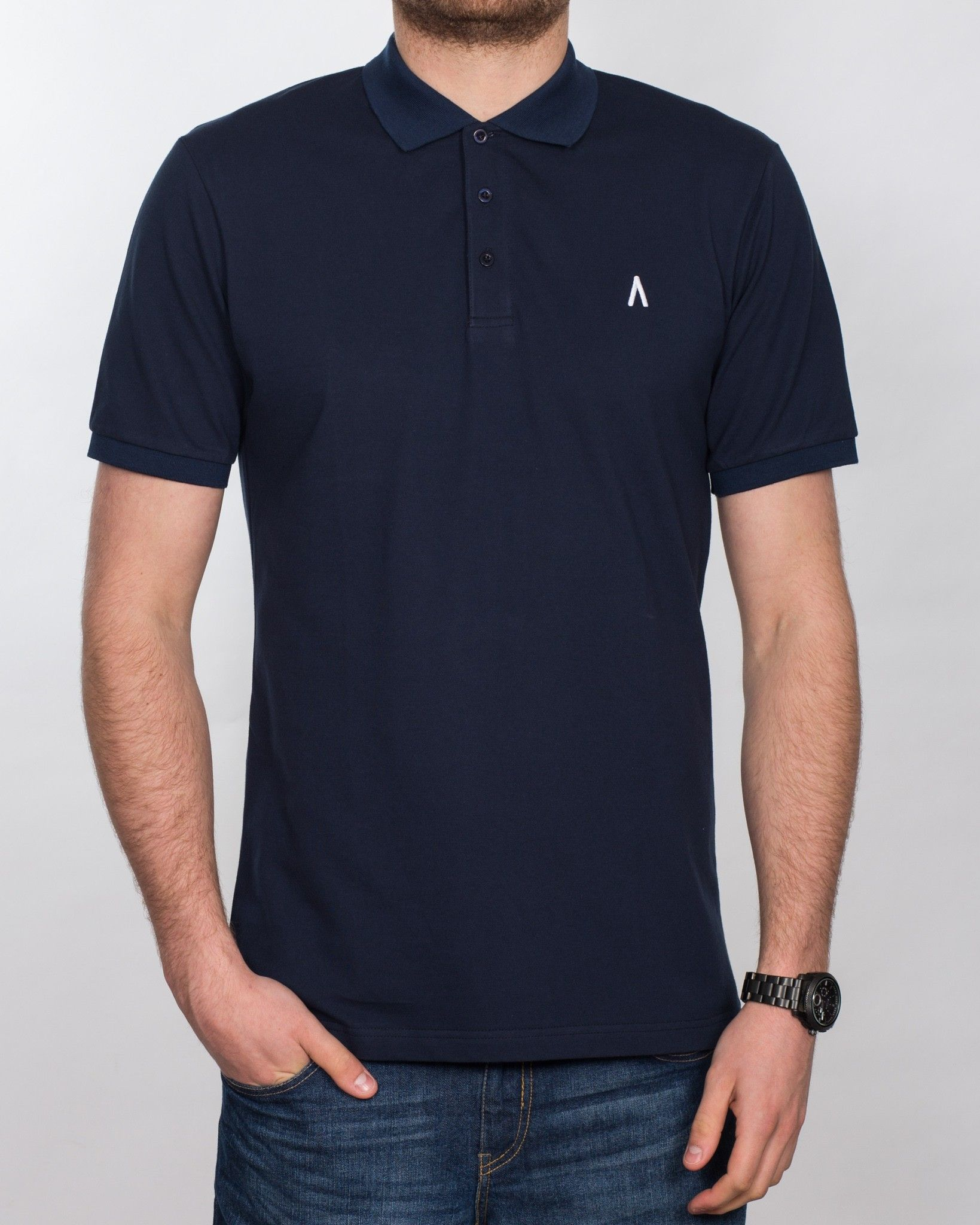 2t Slim Fit Tall Polo Shirt (navy) | Polo Shirts | Tops | Extra Tall Mens  Clothing | Size 13/14/15 Shoes