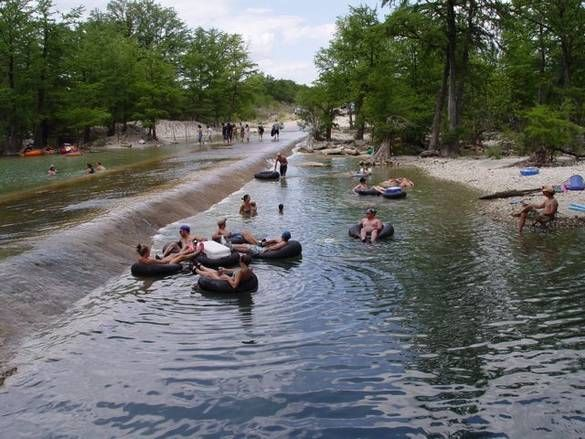 Magers Crossing On The Frio River In Concan In Two