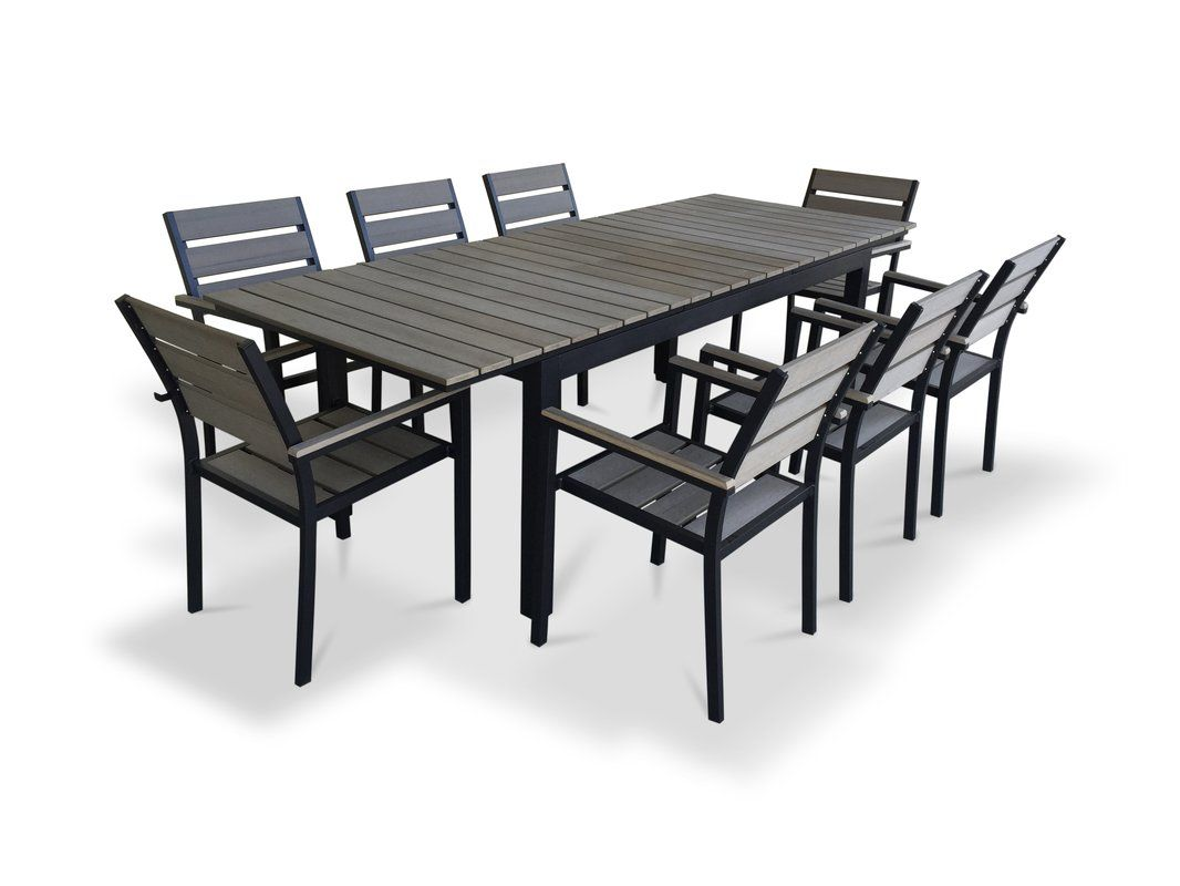 9 Piece Extendable Outdoor Dining Set Dining Set Outdoor Dining Set Outdoor Dining Furniture
