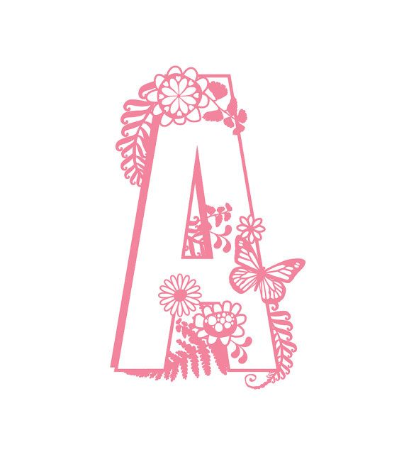 Letter A Cutting File Svg Pdf Png Cricut Silhouette By Nonnaiandd