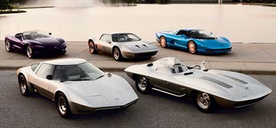 Concept Corvettes: 1959 Sting Ray, 1973 XP-895 Reynolds, 1977 Aero-Vette, 1990 Cerv III, 1992 Sting Ray III  Motortrend Article... http://www.motortrend.com/classic/roadtests/c12_0511_concept_corvettes_comparison/viewall.html