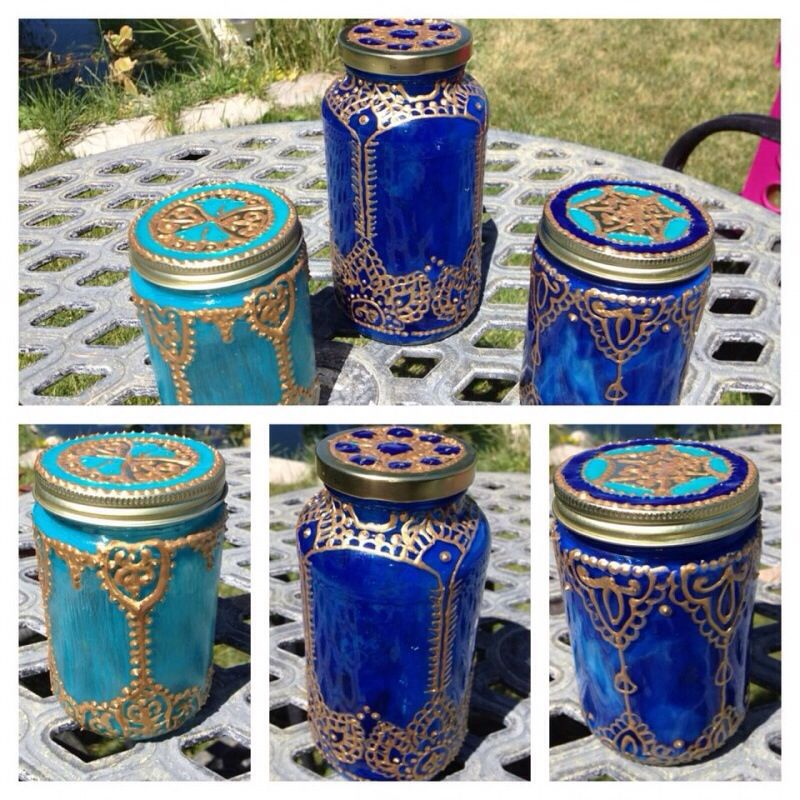Middle eastern glass paint