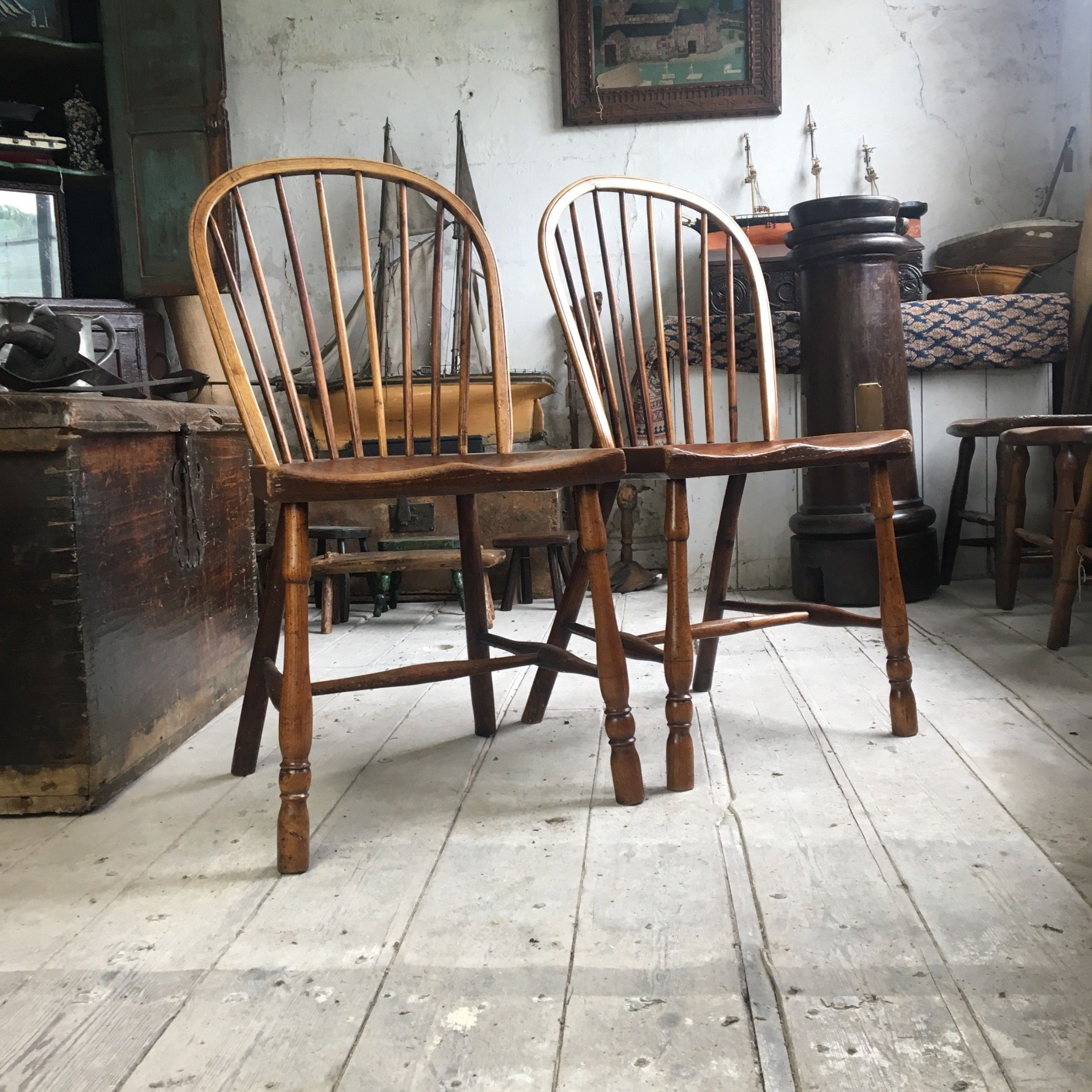 PAIR OF WEST COUNTRY SIDE CHAIRS (With images) Antiques