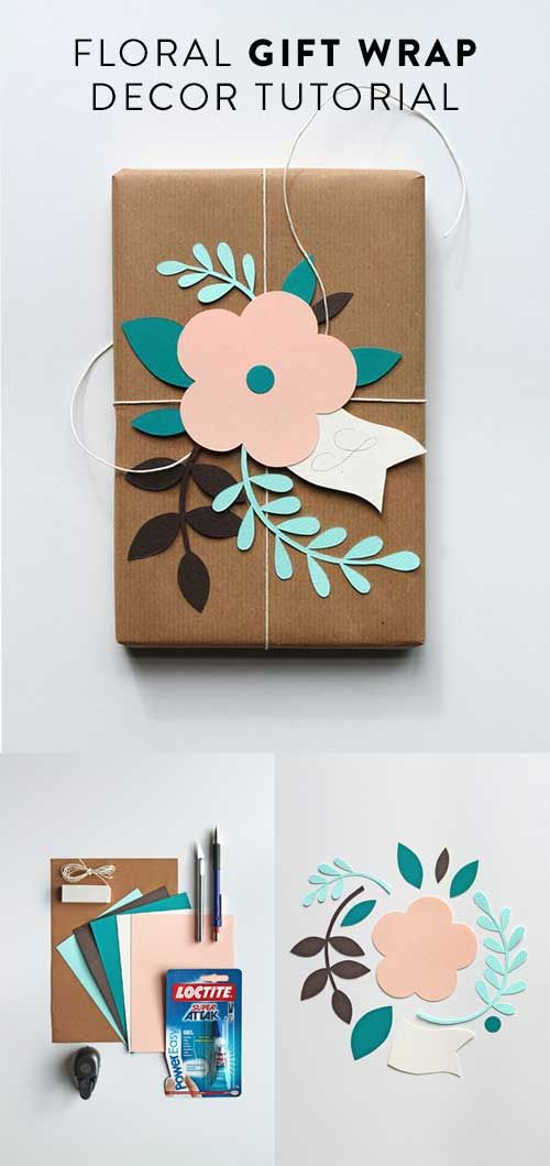 Floral Gift Wrap Tutorial #gifts