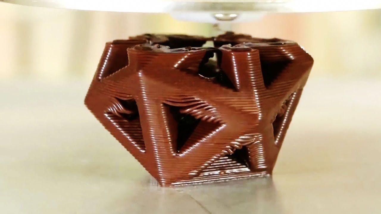 Amazing 3D Chocolate Printer cookie chocolate 3dprinter