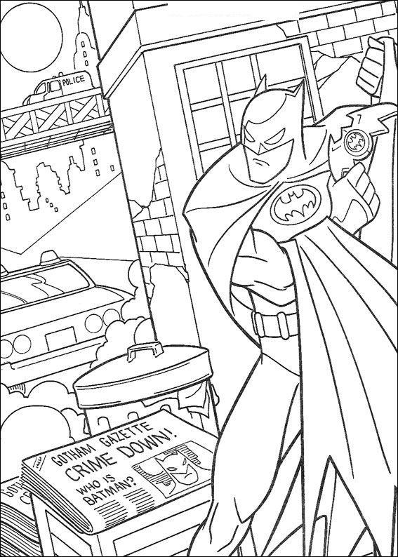 Coloring Page Batman Journal Coloring Me Batman Coloring