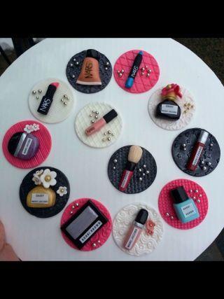 Makeup Cupcake Toppers Cakesdecor