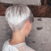 Silver Short Hair Here you are ladies the great thing for having short hair, ombre colored short hairstyles! These days ombre color really popular and all women wants to try this hair color. This image has get 6 repins. Author: lakesidestorm #Hair #Short #Silver