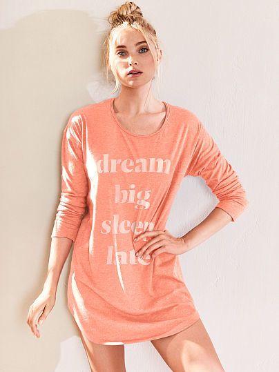 e56857607 Victorias Secret The Angel Long Sleeve Sleep Tee