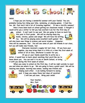 Summer welcome letter for primary grades school pinterest summer back to school welcome letter for primary grades teacherspayteachers thecheapjerseys Images