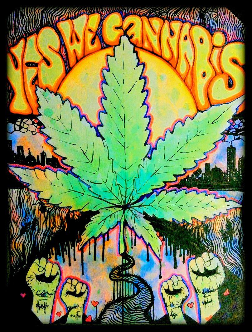 Cannabis artwork weed drawings tumblr psychedelic - Stoner tumblr ...