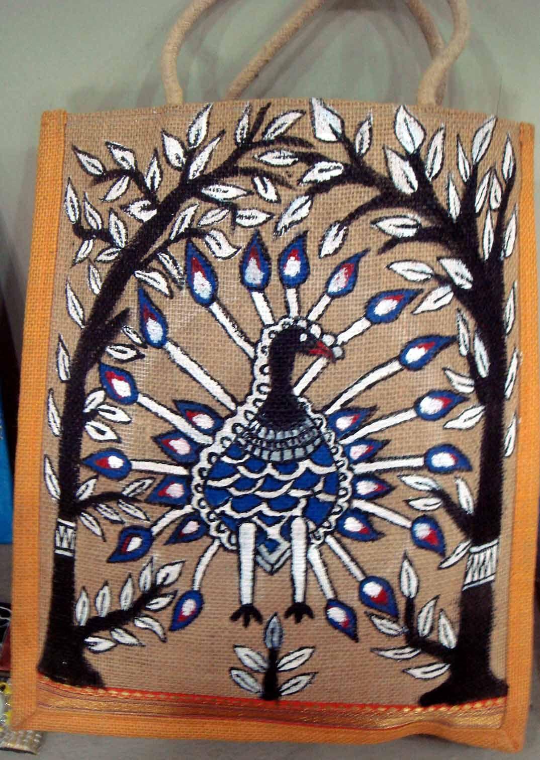 Gonda Art on Jute bag with acrylic colours