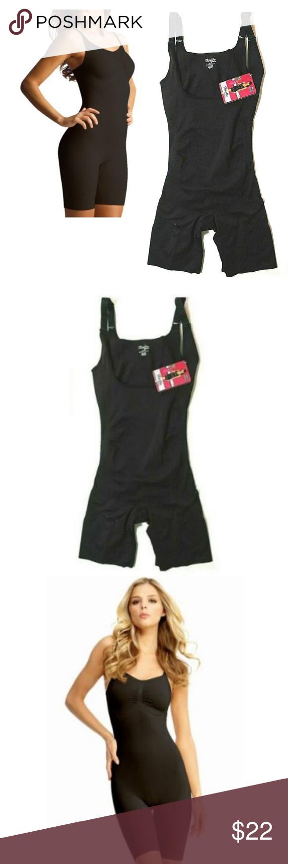 3b8988b3421 MeMoi SlimMe Full Bodysuit  amp  Thigh Shaper XL Black MeMoi SlimMe Full  Bodysuit  amp