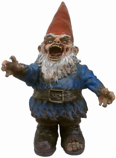Gnome In Garden: Zombie Gnome - Large Gnombie