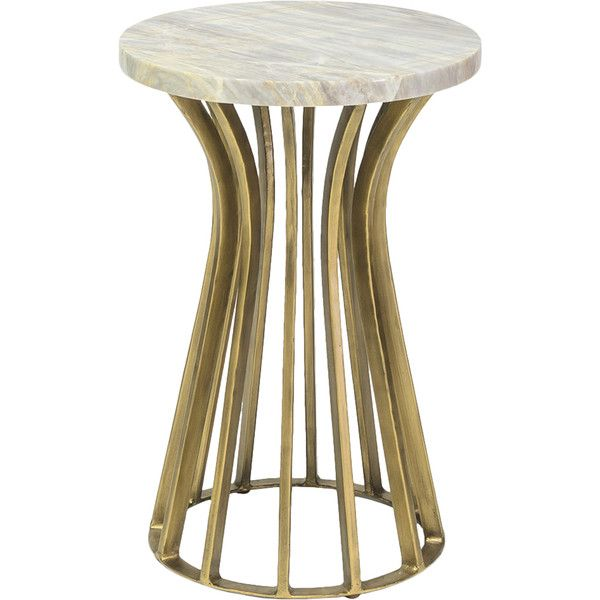 Cairo Regency Gold Iron Round Marble End Table 944 Liked On