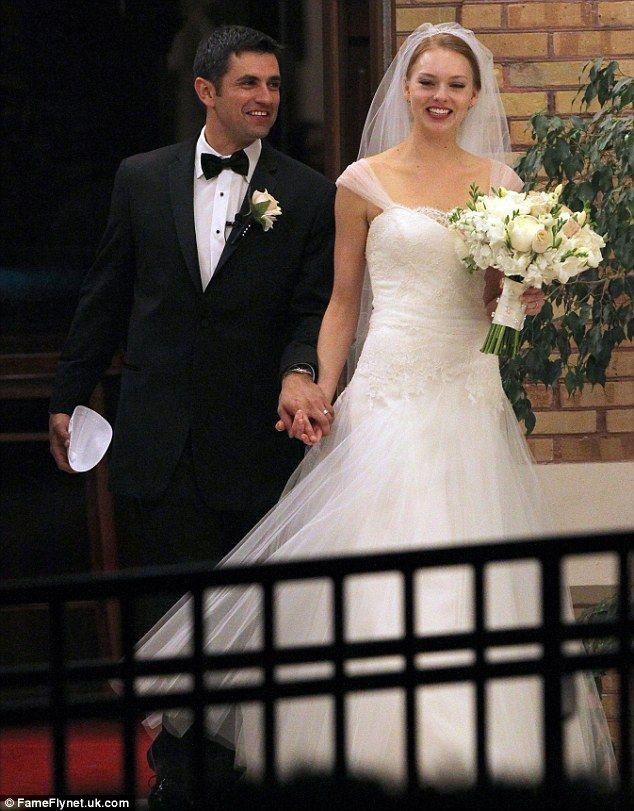Mila Kunis Hugs Father As Ashton Kutcher Watches At Brother S Wedding Bride Wedding Wedding Dresses