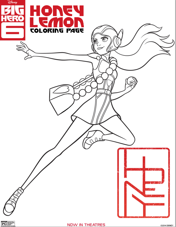 Big Hero 6 Coloring Sheets And Science Experiments