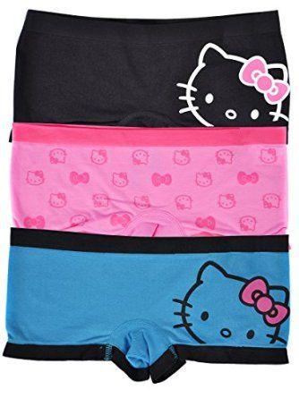 7587e99ccd92 Hello Kitty Jewelry | Amazon.com: Hello Kitty Women's Slim Seamless Boy  Short Underwear 3 .