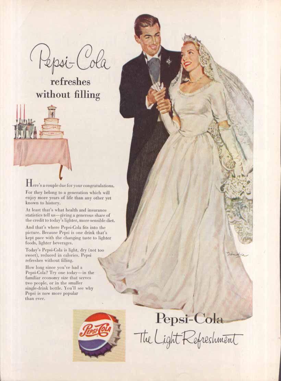 Vintage Pepsi Wedding Ad Pepsi Pepsi Cola Pepsi Vintage