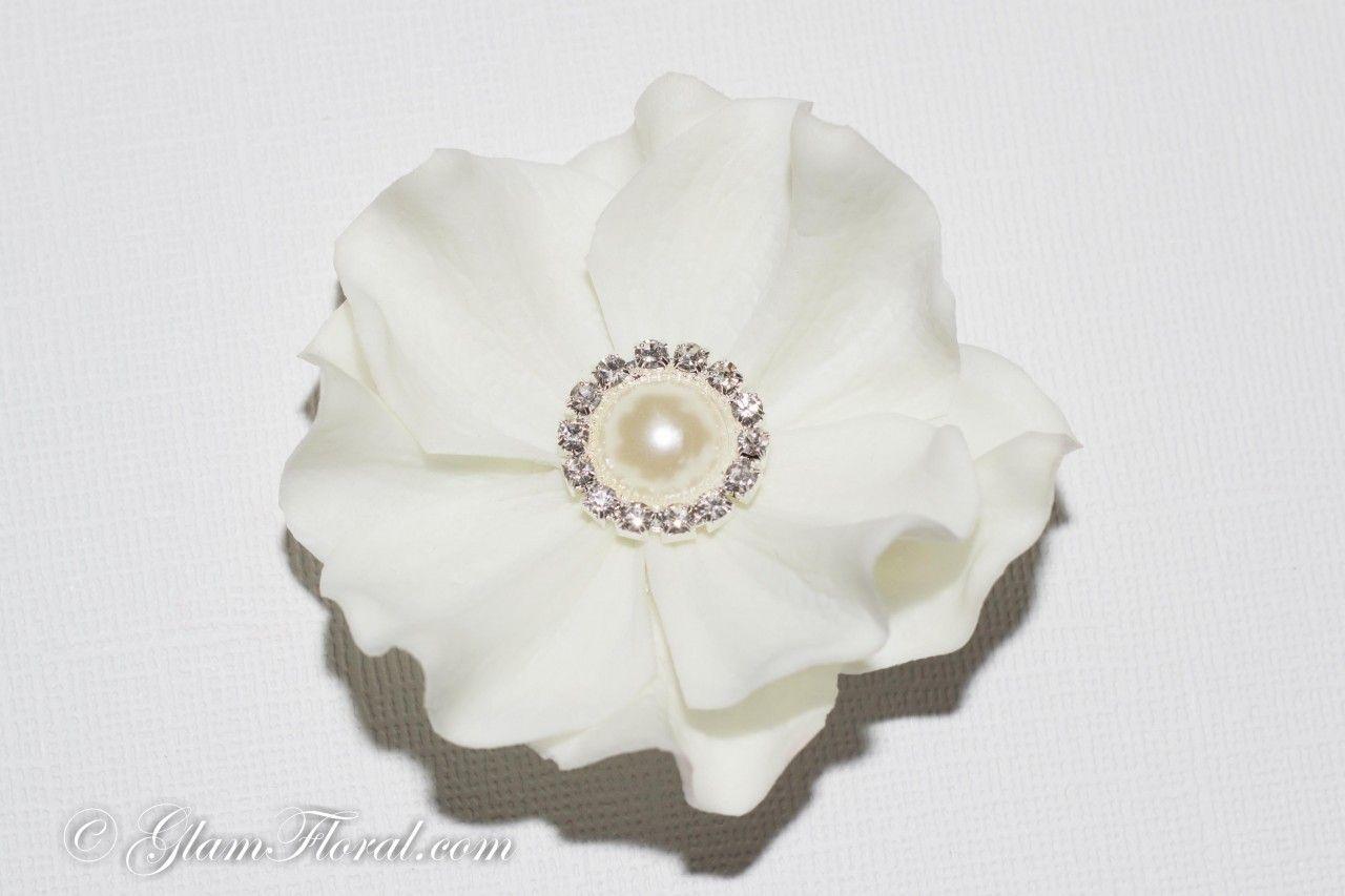 Httpglamfloralnatural White Hydrangea Hair Clip