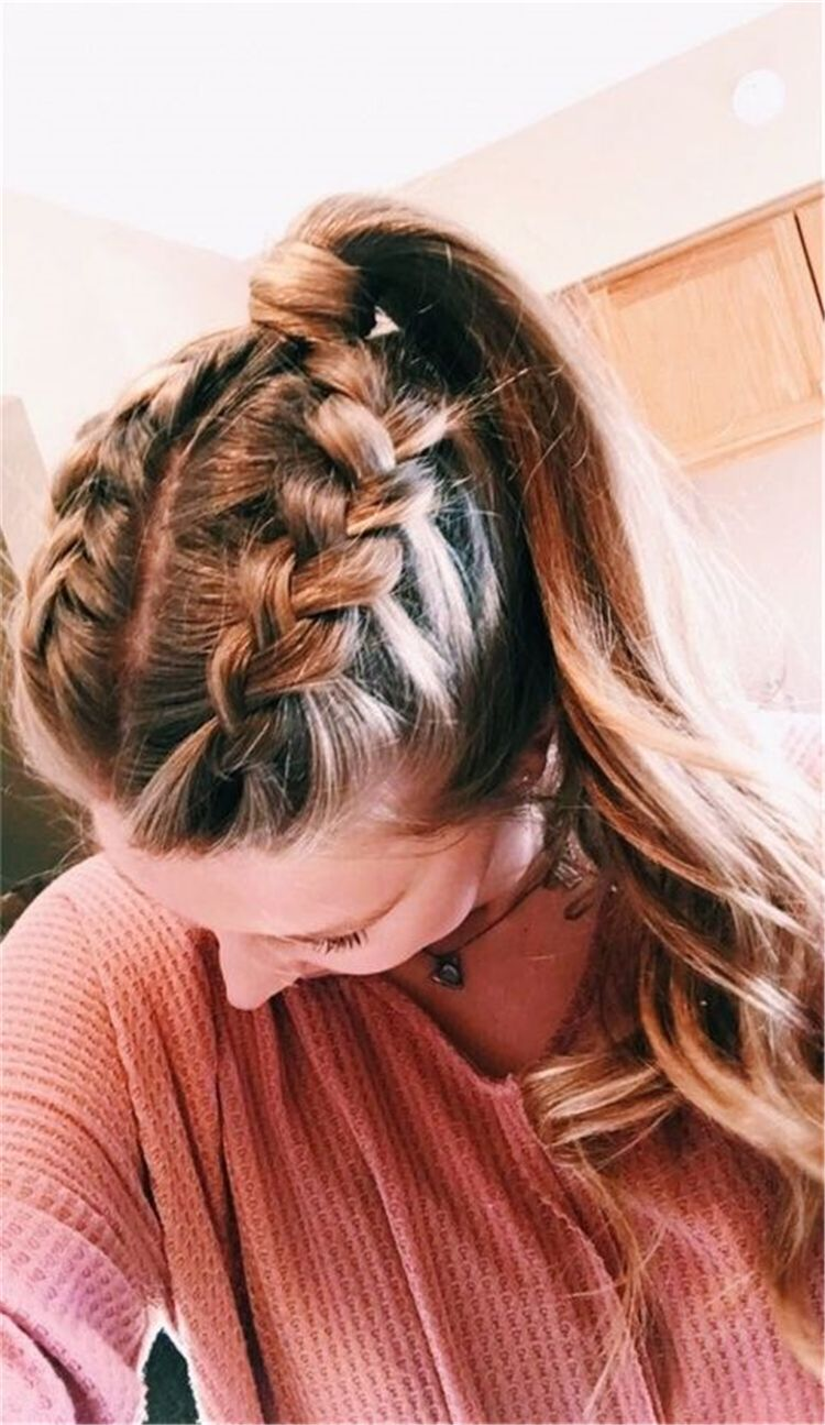 Cute and Easy Long Hairstyles for School 2019; coolest ...