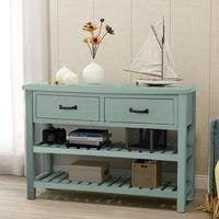 Acme Furniture Flavius 6-drawer Console Table (Tea