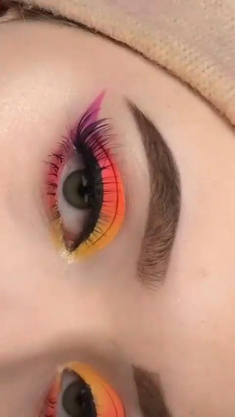 Amazing Sunset Eye Makeup Tutorial