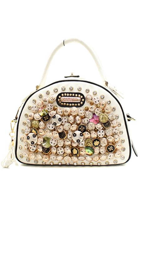 Reg  75.00 Nicole Lee Handbag Beautiful button detail  6525ac3c3b11d